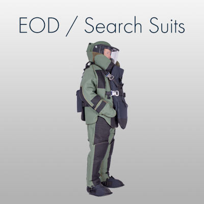 EOD Bomb Suit and accessories